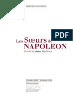 Exposition Les Soeurs de Napoléon au Musée Marmottan - dossier de presse