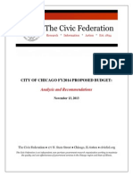 Civic Federation Analysis_City of Chicago FY2014 Proposed Budget.pdf