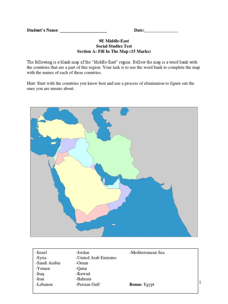 Middle East Test Middle East Asia