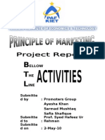Report on BTL Activities