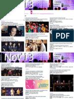 Agenda Cultural NOV Del 13 Al 17