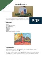 Cómo hacer un volcán casero