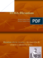 HIRSUTISM. Diagnosticul Tratament