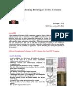 Different Strengthening Techniques for RC Columns Masterbuilder
