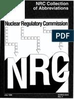 Abbreviations and Acronyms NUREG-0544