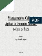 Managementul calitatii (Dogaru)