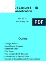 CE5101 Lecture 6 - 1D Consolidation - Terzhagi Theory (OCT 2013).ppt