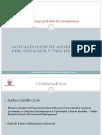 ACTUALIZACIÓN DE APORTES A AFP POR INFLACIÓN Y TASA DE INTERÉS