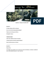 Questions - Satsang - 13 Novembre 2013