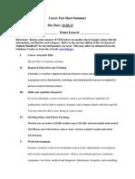 career fact sheet summary redo 10-30-13
