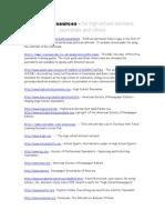 Journalism Web Resources