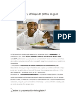 Presentación y Montaje de platos