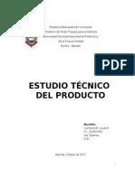 Trabajo Del Estudio Tecnico Del Producto