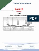 Horários - Karatê 2013