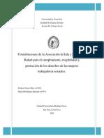 Contribuciones de la Asociación la Sala y Fundación Rahab -Tesis García 2010