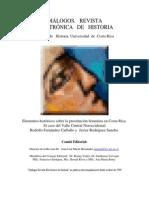 Elementos históricos sobre la prostitución femenina en Costa Rica. -Fernandez y Rodríguez