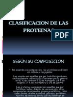 Clasificacion de Las Proteinas