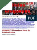 Noticias Uruguayas miércoles 13 de noviembre del 2013