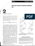 Channel Shaped Reinforced Concrete Compression Members