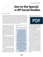 Introduction to the Special Section on AP Social Studies