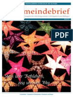 Gemeindebrief 2013 12 Advent - 12. Ausgabe