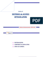 4 Sistemas Acceso Opticos Xpon