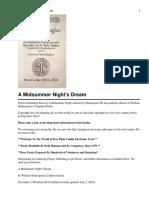A Midsummer Night's Dream - Summary