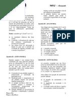 Exercícios MHS com Gabartio - Alternativa 2