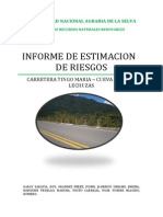 Estimacion Riesgos Carretera a Cueva de Las Lechusas