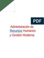 Administracion de Recursos Humanos - Gestion Moderna