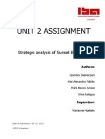 Strategic analysis of Sunset Boulevard