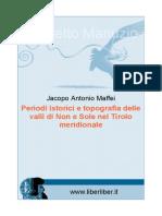 Maffei Periodi Istorici e Topografia Delle Valli Di Non e Sole