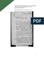 Muskeg Lake Petition, 1910