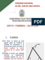 Capitulo IV Fuerzas y Estatica