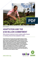 Adaptation and the $100 billion Commitment: Why private investment cannot replace public finance in critical climate adaptation