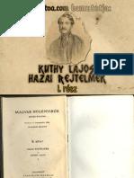 Kuthy Lajos - Hazai Rejtelmek 1. kötet