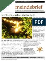 Gemeindebrief 2009 11 Advent - 1. Ausgabe