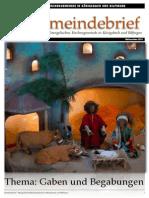 Gemeindebrief 2010 12 Advent - 4. Ausgabe