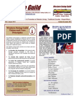 Western Swing Guild Newsletter for End of Year 2013