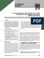 GACETA JURIDICA - Articulo La Consolidacion del arbitraje en el Perú