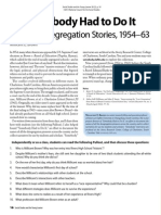 Somebody Had to Do It: