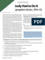 Somebody Had to Do It: School Desegregation Stories, 1954–63 260216.pdf