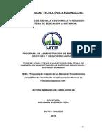Manual de Procedimientos para el Plan de Capacitación en la CNT