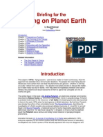 Briefing for the Landing on Planet Earth by Stuart Holroyd