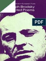 Joseph Brodsky Brodsky, The Selected Poetry of Penguin Modern European Poets 1974