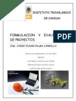 Formulacion y Evaluacion de Proyectos Fin Final de Finales