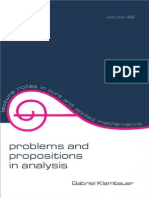Gabriel Klambauer Problems and Propositions in Analysis Lecture Notes in Pure and Applied Mathematics  1979.pdf