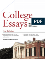 College Essays that Made a Difference by The Princeton Review - Excerpt