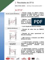 Press-release referente ao 3T13