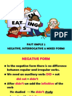 Past Simple 2 Negative Interrogative